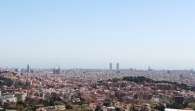 Vue de Barcelone Image libre de droits