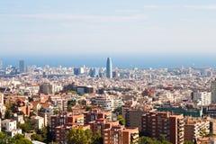 Vue de Barcelone Photographie stock