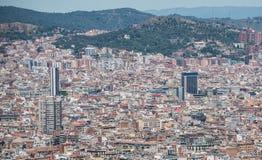 Vue de Barcelone photo stock