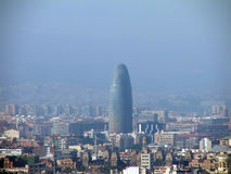 Vue de Barcelone de Monjuik Photos stock