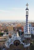 Vue de Barcelone du Parc Guell images libres de droits