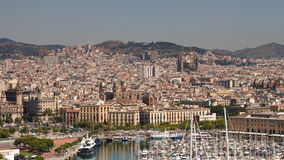 Vue de Barcelone, Espagne Image libre de droits