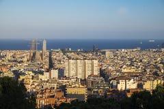 Vue de Barcelone et de Sagrada Familia Image stock