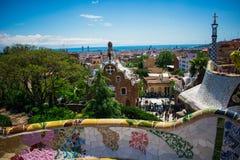 Vue de Barcelone de parc d'aune de ¼ de gÃ, Espagne photo libre de droits