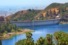 Vue de barrage de Mulholland à Los Angeles, Etats-Unis photographie stock