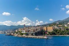 Vue de Bastia en Corse Images libres de droits