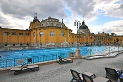 Vue de Bath thermique médicinal de Szechenyi à Budapest Photo libre de droits