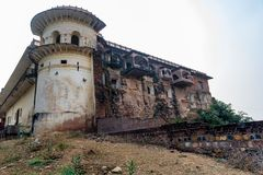 Vue de beau palais antique en Inde photographie stock