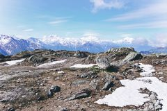 Vue de beau paysage dans les Alpes Photos libres de droits