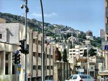 Vue de beauté d'architecture de ville de Haïfa Image libre de droits