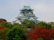 Vue de bel Osaka Castle photo stock