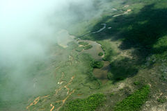 Vue de Belize ci-dessus Photos libres de droits