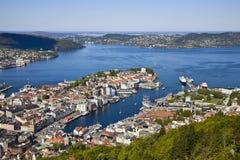 Vue de Bergen photographie stock libre de droits