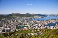 Vue de Bergen Image libre de droits