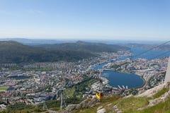 Vue de Bergen Photos stock