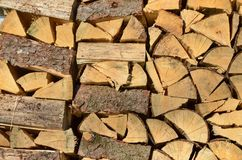 Vue de bois de construction traditionnel de stockage, Bohême du sud image libre de droits