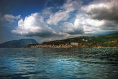 vue de bord de la mer Photo stock