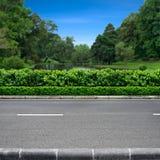 Vue de bord de la route de stationnement photographie stock