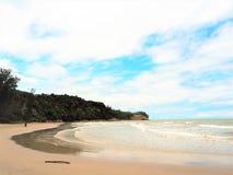 Vue de bord de la mer de nature à la baie Miri Sarawak Malaysia de Tanjung Lobang photo stock