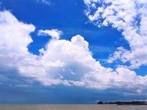 Vue de bord de la mer de nature à la baie Miri Sarawak Malaysia de Tanjung Lobang images libres de droits