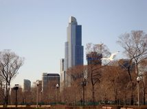 Vue de bord de mer de Chicago sur Sunny Day image stock