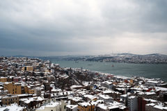 Vue de Bosphorus de tour de Galata image stock