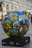 Vue de boule peinte Zone de fan du Mexique pendant à la coupe du monde de la FIFA Russie 2018 Photo couleur Image stock