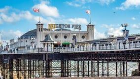 Vue de Brighton Pier, également connue sous le nom de pilier de palais Image stock