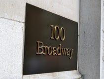 Vue de Broadway 100 Image stock