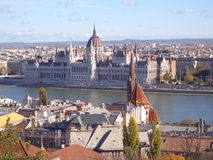 Vue de Budapest images libres de droits