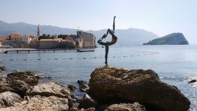 Vue de Budva dans Montegegro image libre de droits