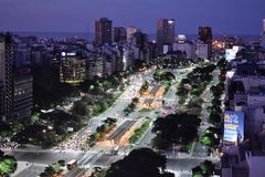 Vue de Buenos Aires, Argentine, 18ème de février de 2017 Image libre de droits