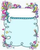 Vue de bulle de la parole de griffonnage de cahier illustration de vecteur