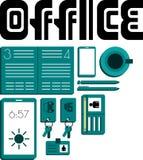 Vue de bureau Image stock