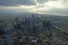 Vue de Burj Khalifa vers la marina de Dubaï photos stock