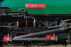 """Vue de côté étroite de machine à vapeur """"Blanche """" photographie stock libre de droits"""