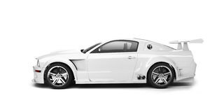 Vue de côté blanche dynamique de véhicule de sport Image stock