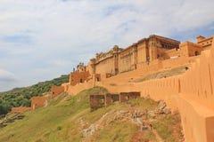 Vue de côté d'Amber Fort, Jaipur, Ràjasthàn, Inde Images stock