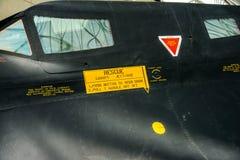 Vue de côté d'auvent du merle SR-71 image stock