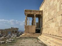 Vue de côté d'Erechtion, Acropole, Athènes, Grèce photo libre de droits