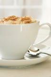 Vue de côté de cappuccino Photos libres de droits