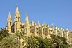 Vue de côté de cathédrale de Palma Image libre de droits