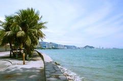 Vue de côté de mer Photos libres de droits