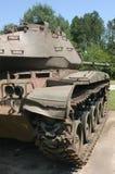 Vue de côté de réservoir militaire Photos stock