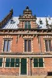 Vue de côté du musée de l'archéologie à Haarlem photographie stock