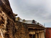 Vue de côté de la terrasse, aune de ¼ du parc GÃ Images stock