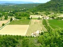 Vue de côté de pays de Provençal images libres de droits
