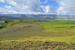 Vue de côte sud chez Dyrholaey, Islande Images libres de droits