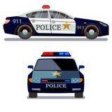 Vue de côté avant et de voiture de police illustration de vecteur