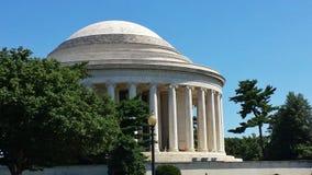 Vue de côté classique de Jefferson Memorial dans l'†«Washington, D de matin C Image stock